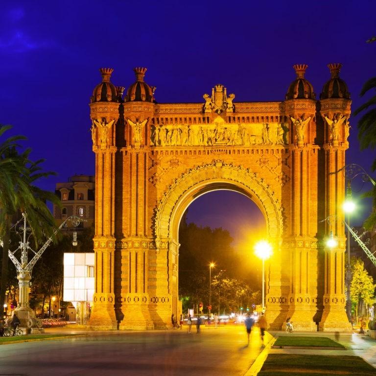 arco del triunfo en barcelona